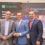 Jean Bibeau (Accélérateur entrepreneurial Desjardins), Guy Cormier (Desjardins) et Michaël Giguère (Entrepreneuriat Québec)