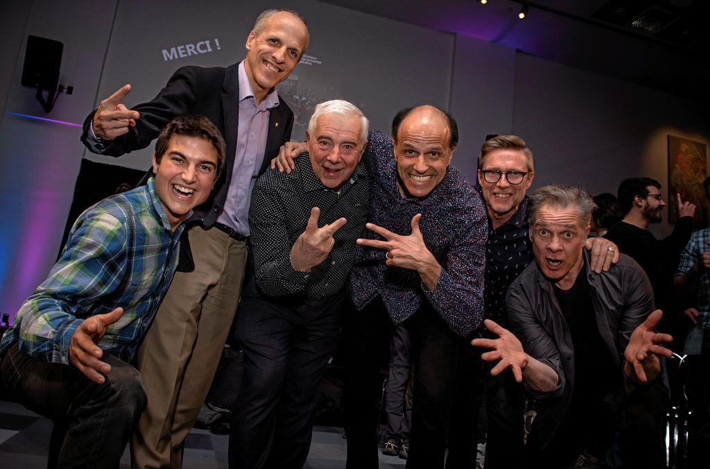 Clément Moliner-Roy, Pierre Cossette, Alain Lemaire, Jean Bibeau, Jacques Cloutier et Bernard Fortin